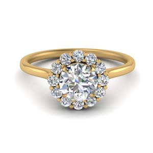 Cathedral Flower Lab Diamond Ring