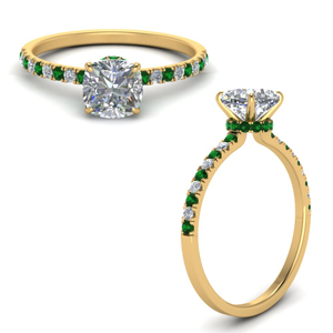 hidden-halo-petite-cushion-cut-diamond-engagement-ring-with-emerald-in-FD9168CURGEMGRANGLE3-NL-YG