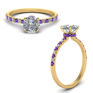 Purple Topaz With Halo Ring