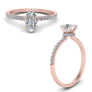 Petite Hidden Halo Diamond Ring