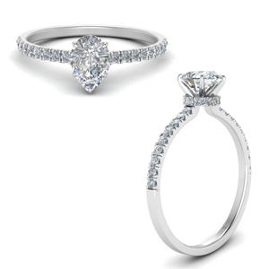 1 Carat Classic Pear Diamond Ring