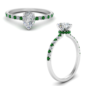 hidden-halo-petite-pear-shaped-diamond-engagement-ring-with-emerald-in-FD9168PERGEMGRANGLE3-NL-WG