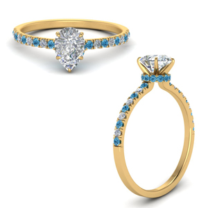 hidden-halo-petite-pear-shaped-diamond-engagement-ring-with-blue-topaz-in-FD9168PERGICBLTOANGLE3-NL-YG