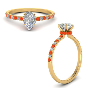 hidden-halo-petite-pear-shaped-diamond-engagement-ring-with-orange-topaz-in-FD9168PERGPOTOANGLE3-NL-YG