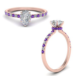 hidden-halo-petite-pear-shaped-diamond-engagement-ring-with-purple-topaz-in-FD9168PERGVITOANGLE3-NL-RG