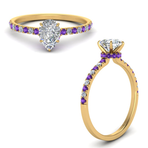 hidden-halo-petite-pear-shaped-diamond-engagement-ring-with-purple-topaz-in-FD9168PERGVITOANGLE3-NL-YG