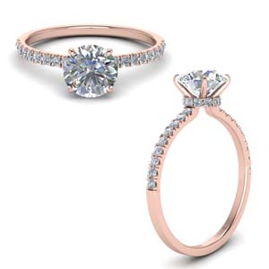 Halo Hidden Petite Diamond Ring