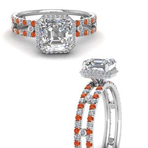 Split Shoulder Orange Topaz Ring