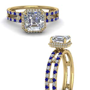 Sapphire Double Band Wedding Ring