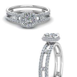 Bezel Set Double Band Diamond Ring