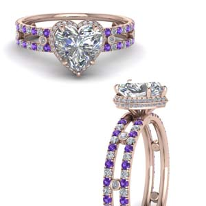 Purple Topaz Split Band Ring
