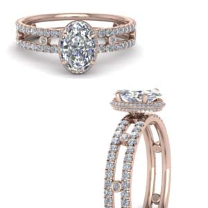 Oval Shaped Halo Ring