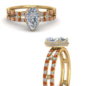 split-band-hidden-pear-halo-diamond-engagement-ring-with-orange-sapphire-in-FD9171PERGSAORANGLE3-NL-YG
