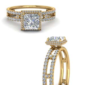 Pave And Bezel Set Diamond Ring