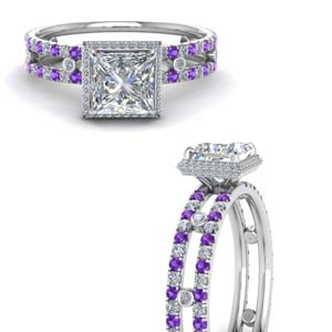 Split Shank Purple Topaz Ring