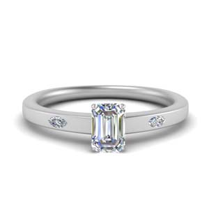 Flat 3 Stone Diamond Ring