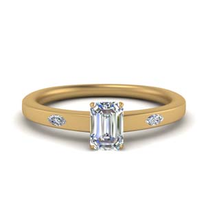 3 Stone Lab Created Diamond Ring