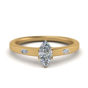 Beautiful Flat Engagement Ring