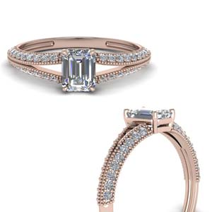 Knife Edge Split Shank Engagement Ring