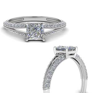 Split Shank Lab Diamond Ring