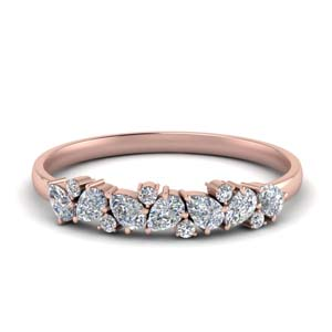 Half Carat Pear Diamond Anniversary Band
