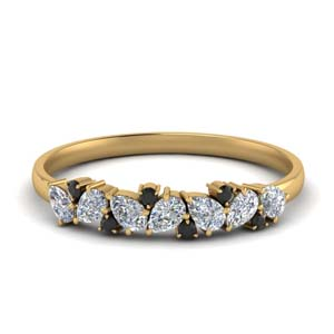 Black Diamond Band With Pear