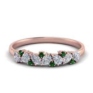 Cluster Promise Ring With Emerald
