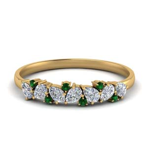 Pear Diamond Anniversary Band