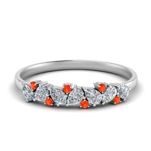 Anniversary Band In Orange Topaz