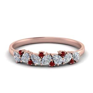 Accent Ruby Pear Shaped Band