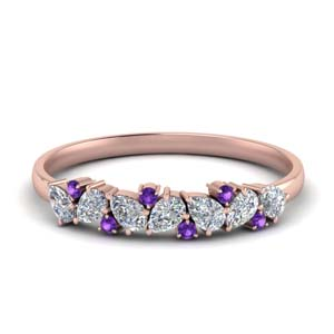 Pear Shaped Purple Topaz Band