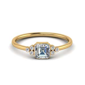 Delicate Bezel Diamond Ring