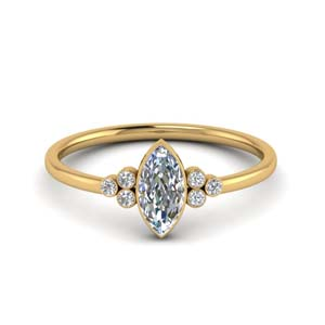 Simple Marquise Diamond Ring