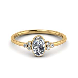 Oval Shaped Moissanite Ring