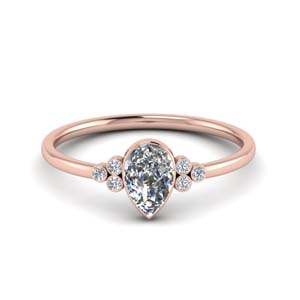Petite Diamond Bezel Set Engagement Ring