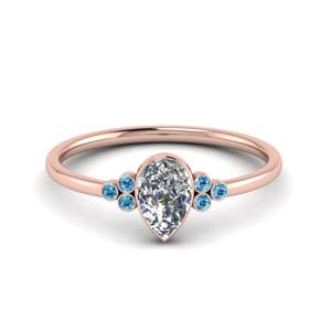 Petite Bezel Set Engagement Ring
