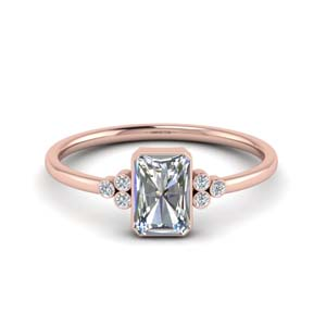 Radiant Cut Petite Moissanite Rings