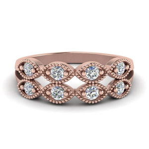 Infinity Split Diamond Wedding Band