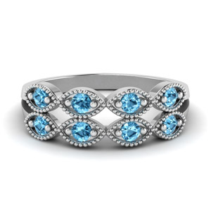 Art Deco Topaz Infinity Band