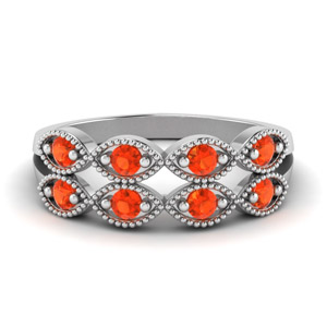 Beautiful Orange Topaz Band