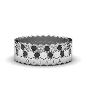 Personalized Pattern Black Diamond Band