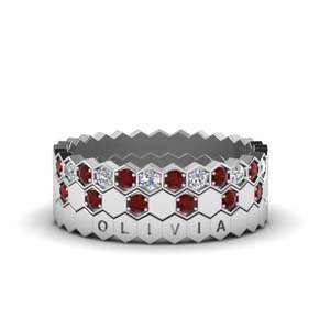 Ruby With Hexagonal Band