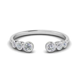 Bezel Diamond Open Ring