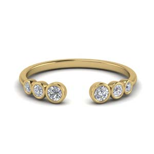 Bezel Set Diamond Open Ring