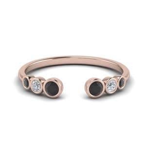 Black Diamond Open Ring