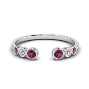 Pink Sapphire Open Ring