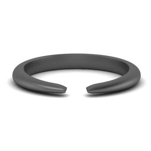 Tapered Open Ring Black Gold