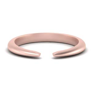 Rose Gold Tapered Open Ring