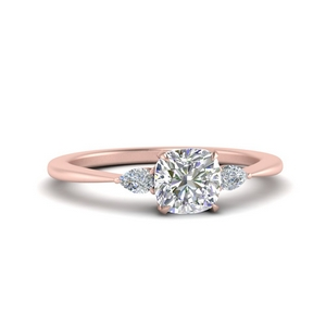 Cathedral Cushion Diamond Ring