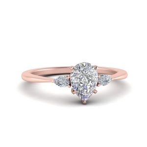 3 Stone Pear Engagement Rings